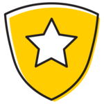 Illustration of shield with star