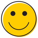 Illustration of smiley face.