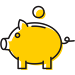 Illustration of a piggy bank.